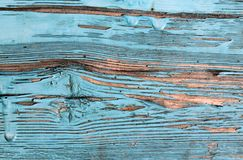Old blue board with cracked paint, vintage, wood, background. Old blue board with cracked paint, vintage wood background, grunge plank Stock Image