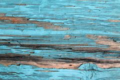 Old blue board with cracked paint, vintage, wood, background. Old blue board with cracked paint, vintage wood background, grunge plank Stock Photography