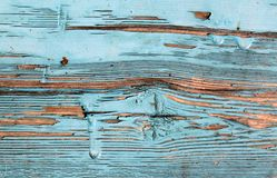 Old blue board with cracked paint, vintage, wood, background. Old blue board with cracked paint, vintage wood background, grunge plank Royalty Free Stock Photos