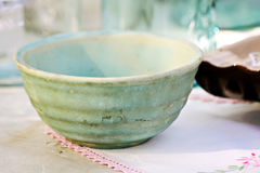 Old Blue Bowl Royalty Free Stock Photography