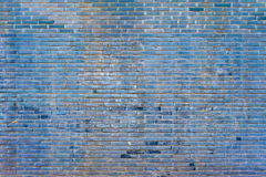 Old blue brick wall background texture. Old blue brick wall of a building Royalty Free Stock Photo