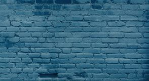 Vintage Blue Brick Wall Background Royalty Free Stock Photography