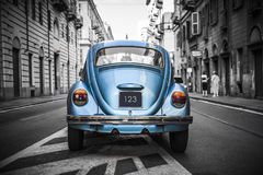 Old blue car Stock Photography