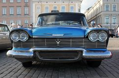 Old Blue Car Stock Image