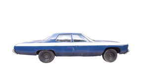 Old blue car isolated Stock Image