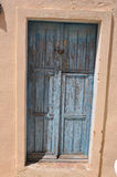 Old blue chabby-chic door Stock Images