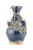 Old blue Chinese dragon vase Stock Image