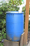 Old Blue Cistern Stock Photography