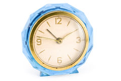 Old blue clock Stock Image