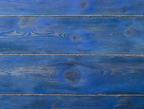 The old blue colored wooden texture background with old rope Royalty Free Stock Image
