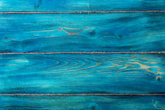 The old blue colored wooden texture background with old rope Stock Images