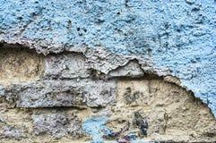 Old blue concrete wall , texture Stock Photos