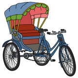 Old blue cycle rickshaw Royalty Free Stock Photo