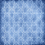 Old blue damask Royalty Free Stock Photo