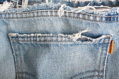 Old Blue Denim Background Stock Photos