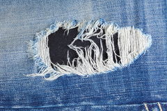 Old blue denim jeans Royalty Free Stock Photo