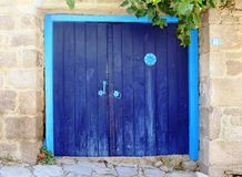 Old blue door Royalty Free Stock Image