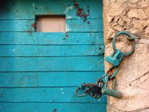Old blue door in Akko Acre, Israel. Travel, travelphotography, locks Stock Photos
