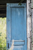 Old blue door. Garden. private house Royalty Free Stock Photography
