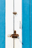 Old blue door Stock Images