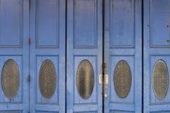 Old blue door. The old blue wooden door royalty free stock images