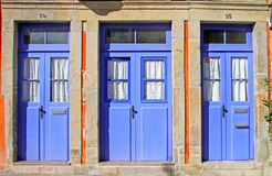 Old blue doors Royalty Free Stock Photos