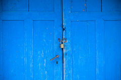 Old blue doors. Texture, locked doors, good for background Stock Image