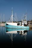 Old blue fishing boat Royalty Free Stock Images
