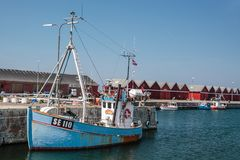 Old blue fishing boat Royalty Free Stock Photos