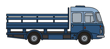 Old blue flatbed truck Stock Image