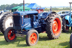 Old blue Fordson tractor. Stock Images