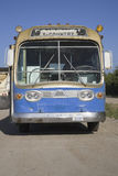 Old blue GM bus Stock Photo