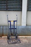 Old blue handcart or barrow truck Royalty Free Stock Images