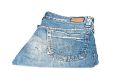 Old blue jeans Royalty Free Stock Photography