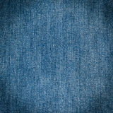 Old blue jeans background and texture Stock Photography