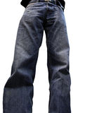 Old blue jeans Stock Image