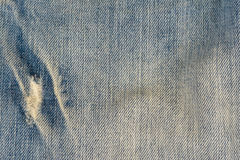 Old blue jeans pattern background Royalty Free Stock Photo