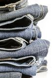 Old blue jeans Royalty Free Stock Image