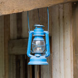 Old blue lantern Royalty Free Stock Images