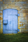 Old blue metal door Royalty Free Stock Photography