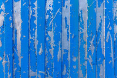 Old blue metal fence Stock Photo