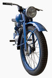 Old blue motorcycle Royalty Free Stock Photos