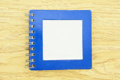Old blue notebook Royalty Free Stock Photos