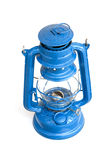 Old blue oil lamp Stock Images