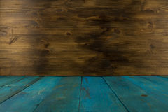 Old blue old wooden background Royalty Free Stock Photography