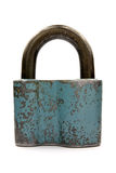 Old blue padlock Royalty Free Stock Photography