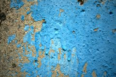 Old blue paint on concrete. Smudges. Texture of stone, photophone or background. stock photos