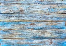 Old blue painted grunge wood planks background Stock Photography