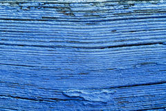 Old Blue Painted Obsolete Wooden Board Background Stock Images