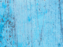 Old blue painted timber wood texture Stock Images